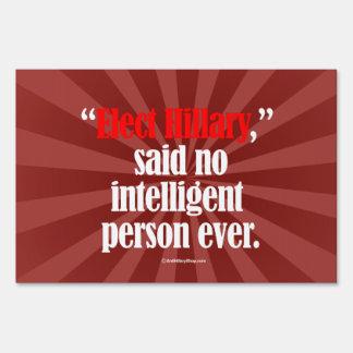 Elija a Hillary no dijo a ninguna persona Carteles