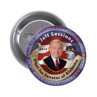 Elija a Jeff Sessions para el senador de Alabama - Pin Redondo De 2 Pulgadas