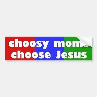 Elija a Jesús Pegatina Para Auto