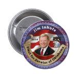 Elija a Jim Inhofe para el senador de Oklahoma Pins