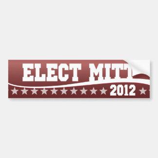 Elija a Mitt Romney 2012 Pegatina Para Auto