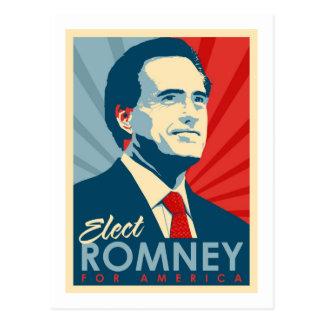 Elija a Mitt Romney para el presidente Tarjetas Postales