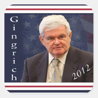 Elija a Newt Gingrich 2012 Pegatina Cuadrada