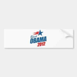 Elija a Obama 2012 Pegatina De Parachoque
