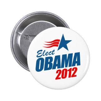 Elija a Obama 2012 Pin