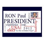 Elija a Ron Paul 2012 postales