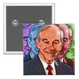Elija a Ron Paul para el presidente Pin Cuadrado