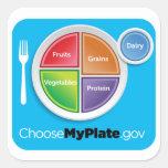 Elija al pegatina de MyPlate - azul