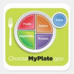 Elija al pegatina de MyPlate - verde