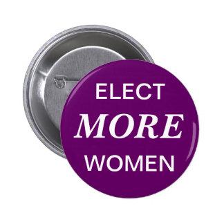Elija botón de más mujeres pins