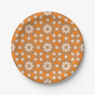 Elija cualquier modelo de estrella repetido color plato de papel 17,78 cm