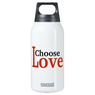 Elija el amor botella isotérmica de agua