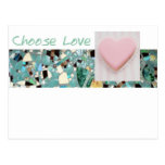 Elija el amor tarjetas postales