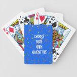 Elija el año poseen la aventura - tipografía de la cartas de juego