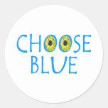 Elija el azul pegatinas