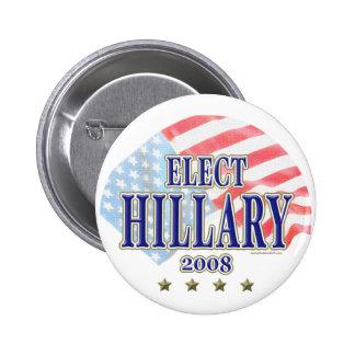Elija el botón de Hillary 2008 Pins