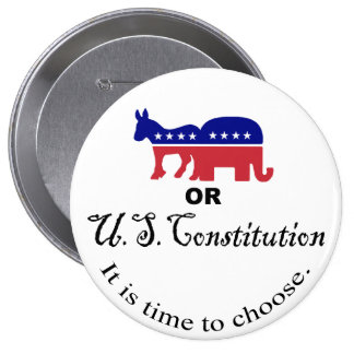 Elija el botón de la constitución pin redondo de 4 pulgadas