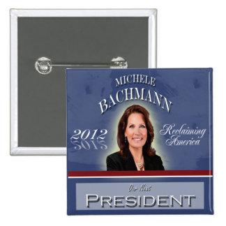 Elija el botón de Micaela Bachmann 2012 Pin Cuadrado