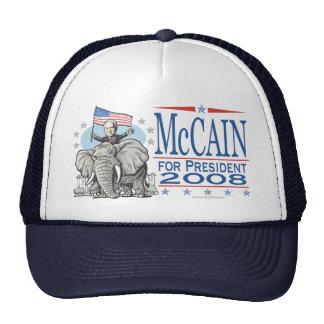 Elija el elefante 2008 del GOP de McCain Gorros Bordados