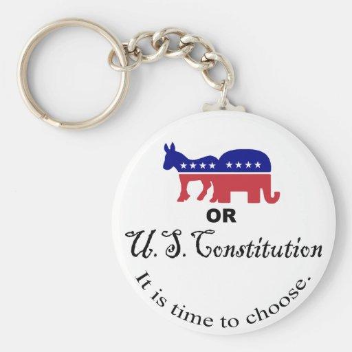 Elija el llavero de la constitución