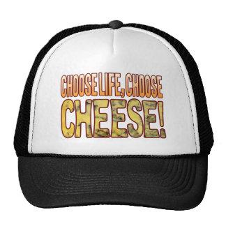 Elija el queso verde de la vida gorras de camionero