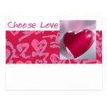 Elija el rojo del amor postales