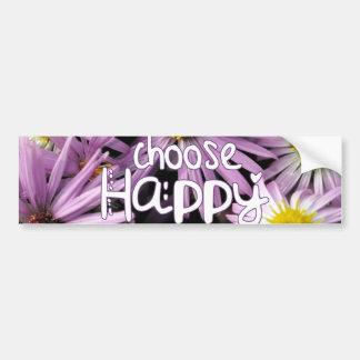 Elija feliz pegatina de parachoque