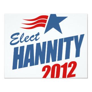 """Elija Hannity Invitación 4.25"""" X 5.5"""""""
