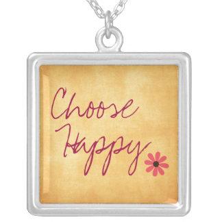 Elija la afirmación feliz colgante cuadrado