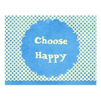 Elija la afirmación feliz postal