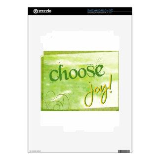 Elija la alegría calcomanías para el iPad 2
