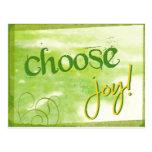 Elija la alegría postal