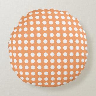Elija la almohada blanca 3 del lunar del color cojín redondo
