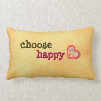Elija la almohada feliz de la cita
