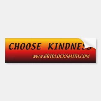 Elija la amabilidad etiqueta de parachoque