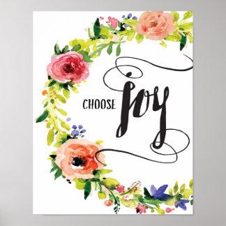 Elija la impresión del arte de la alegría