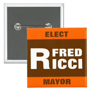 Elija la insignia/el botón del perno de Fred Ricci Pin Cuadrado