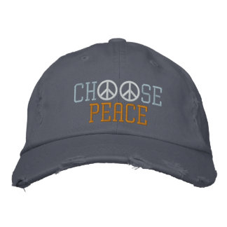 Elija la paz gorras bordadas