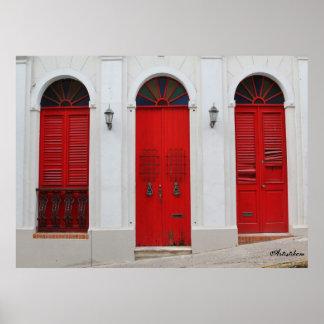Elija la puerta roja impresiones