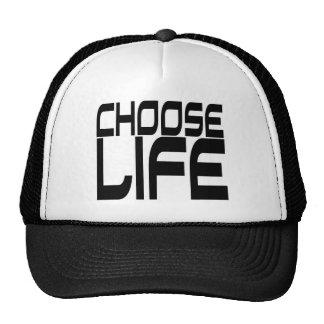 Elija la vida gorras