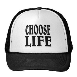 Elija la vida gorro