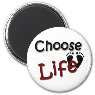 Elija la vida imán para frigorífico