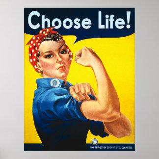 Elija la vida posters