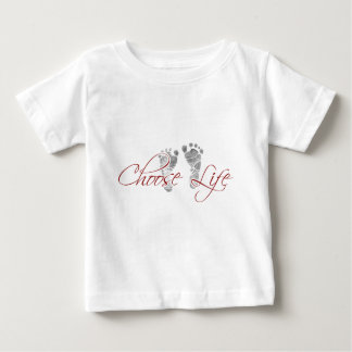 elija la vida playera de bebé