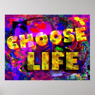 Elija la vida póster