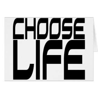 Elija la vida tarjetas