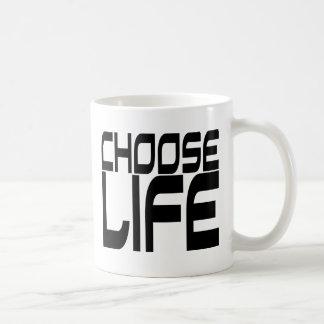 Elija la vida taza de café