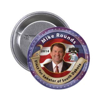 Elija las rondas de Mike para el senador de Dakota Pins