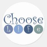 Elija los círculos de la vida etiquetas