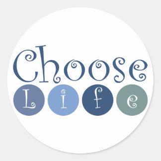 Elija los círculos de la vida pegatina redonda
